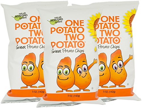 One Potato Two Potato, Sweet Potato Kettle Potato Chips, 5 oz (Pack of 3) from One Potato Two Potato