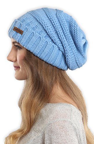 Styles Cold Weather Hats - Brook + Bay Slouchy Cable Knit Cuff Beanie - Stay Warm & Stylish - Chunky, Oversized Slouch Beanie Hats Women & Men - Serious Beanies Serious Style