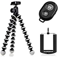 Joby GorillaPod Hybrid Flexible Tripod for Compact Cameras and a Universal Smartphone Mount Adapter w/ Ivation Wireless Bluetooth Camera Shutter Remote Control For iOS, Android and Most Smartphones