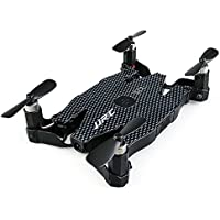 Idealforce JJRC H49 Auto-folding UAV 720P HD Camera Mini Multirotors 360 Degrees Rotation Quadcopter With WIFI Smart Real-time Transmission Function (Black)