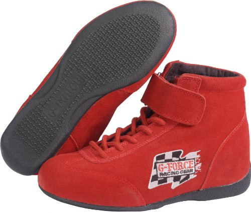 Shoes Racer Racing (G-Force 0235095RD RaceGrip Red Size-095 Mid-Top Racing Shoes)