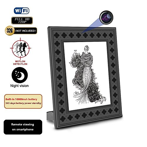 Picture photo frame hidden spy camera wifi -720p h the best Amazon ...