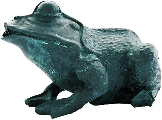 Ubbink Fuente para Estanques Rana 12 cm Color: Gris Material: Poliresina 1386008: Amazon.es: Jardín