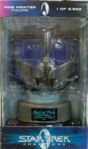 1998 Star Trek Champions: Klingon Bird of Prey (Pewter) - Limited Edition