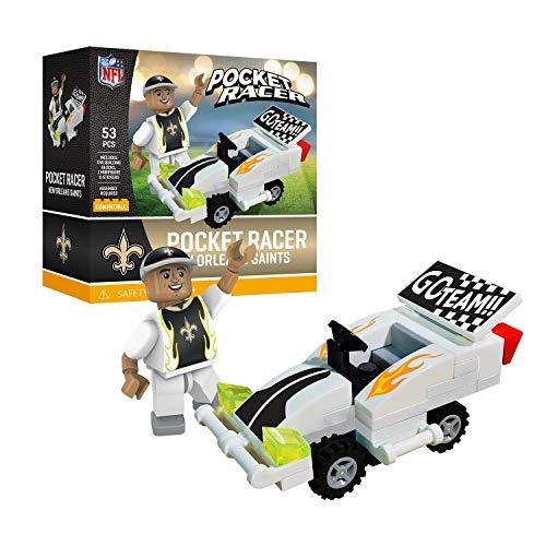 New Orleans Saints OYO Sports Toys Pocket Racer Set with Minifigure 53PCS ()