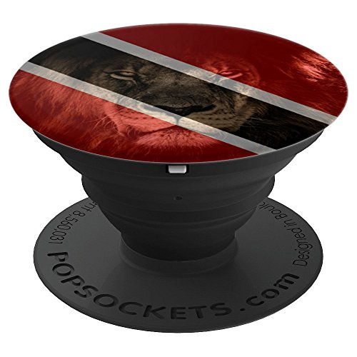 Trinidad & Tobago Flag & Lion Picture - Trini Pride - PopSockets Grip and Stand for Phones and Tablets ()