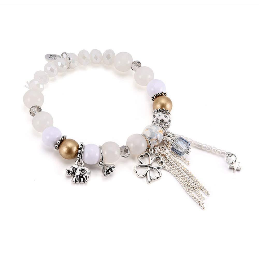 TIDOO Jewelry Womens Bohemian Charm Bracelet Vintage Beads Tassel Bracelet for Girls