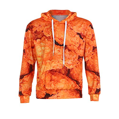 Price comparison product image Dressin_Men's Clothes Clearance!Men's 3D Print Fried Chicken Graphic Hoodie Unisex Pullover Hoodie Sweatshirt Tops Outwear
