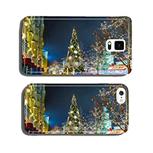 Christmas balls on tree branches in Red square cell phone cover case Samsung S5