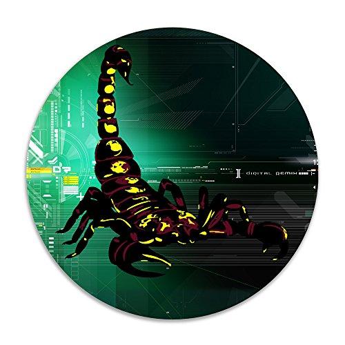 DonSir Scorpion Home Furnishing Round Bathroom Laundry Floor NonSlip Mats