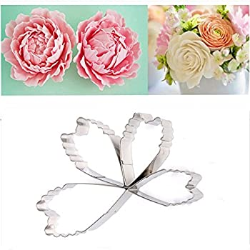 how to make a peony out of fondant