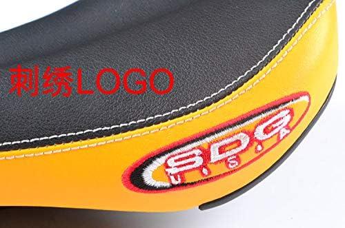 Sdg Monorail Coj/ín c/ómodo sill/ín de bicicleta de color naranja con laterales sint/éticos suaves para bicicleta de monta/ña Mtb