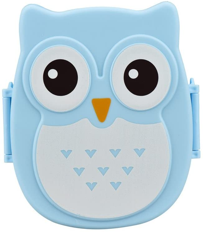 Fan-Ling Owl Cartoon bento Box,Lunch Box Food Container Storage Box Portable Bento Box,Durable, Attractive, and Easy to Clean,for Students&Office Workers (D)