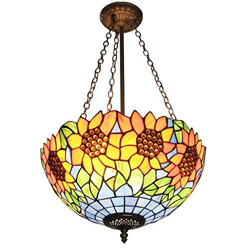 classic pendant lighting restoration luxury sunflower tiffany restaurant ceiling pendant lights continental classic colorful glass lampshade dining room bar counter