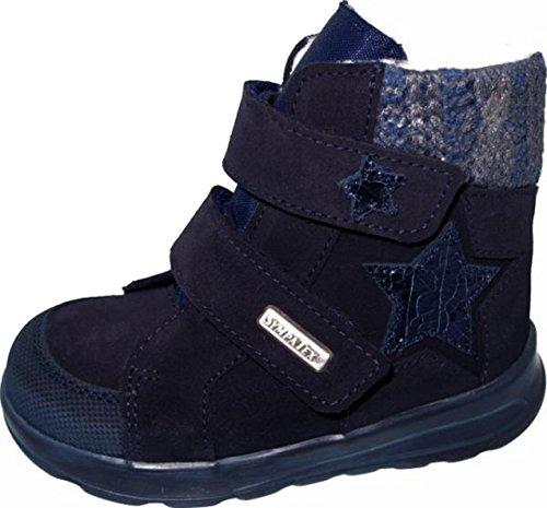 Däumling Kinderschuhe, Helga, Hohe Schuhe, Winterschuhe, Warmfutter, Lederschuhe marine (Turino ozean)