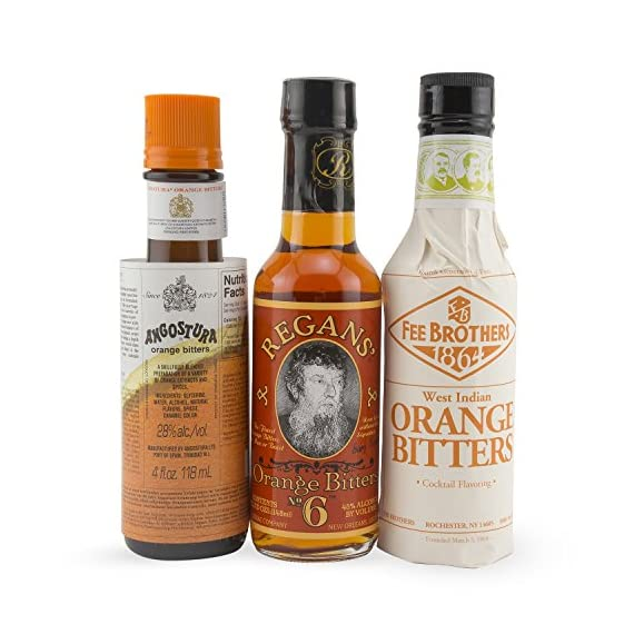 The Orange Cocktail Bitters Collection - 3 Bottles 1 This Complete Collection Includes the Best Brands of Orange Cocktail Bitters. Get Fee Brothers Orange Bitters, Regan's Orange No. 6 and Angostura Orange for one low price! Add Depth and Flavor to Your Cocktails.