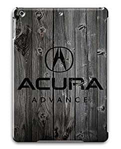 iPad Air Case,Wood stripe Series Customize Ultra Slim Wood Acura Black Hard Plastic PC 3D Print Case Bumper Cover for iPad Air