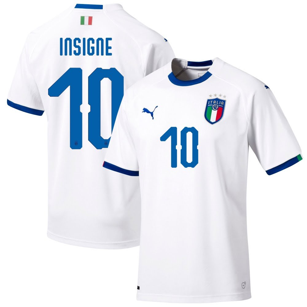 Puma Italien Away Trikot 2018 2019 + Insigne 10