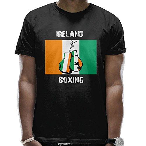 Yodkherk Boxing Irish Men's Classic Cotton Short Sleeve Crew T-Shirt