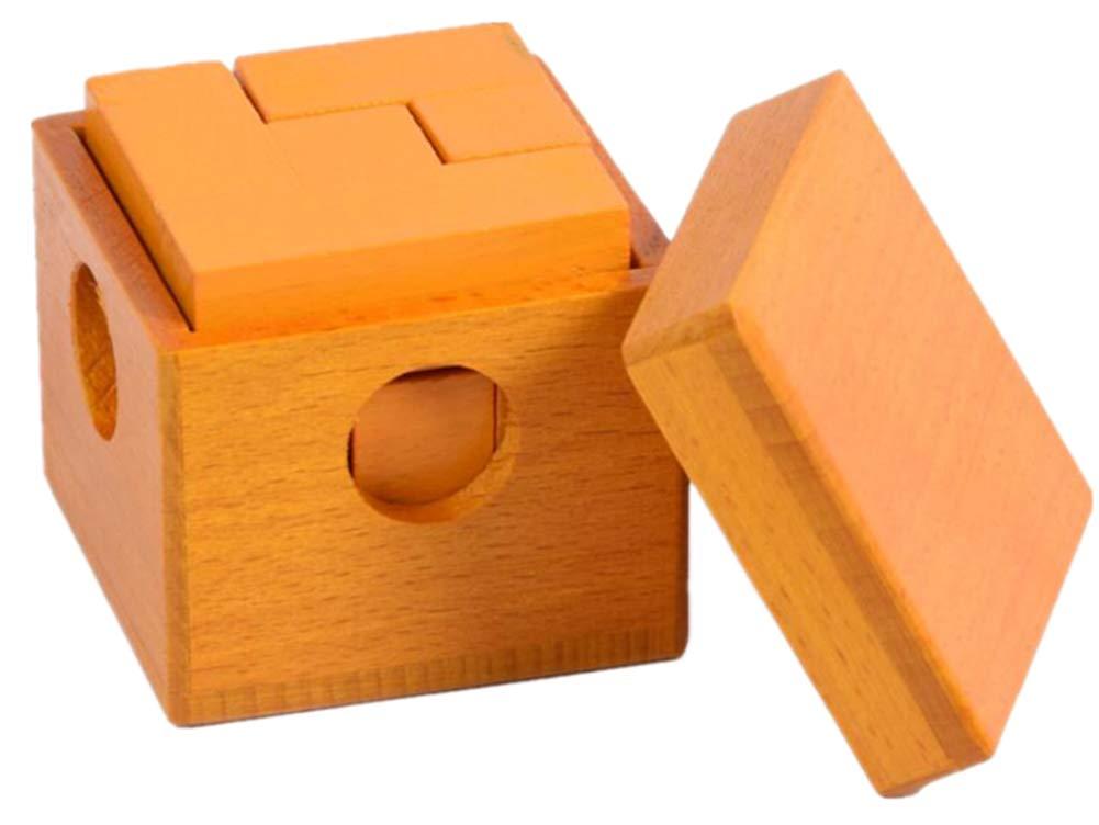 QIU PING - Puzzle de madera para adulto, 7 cajas, cubo de soma, luban, juguete de bloqueo talla única 7 Cubes of Dark Yellow: Amazon.es: Hogar