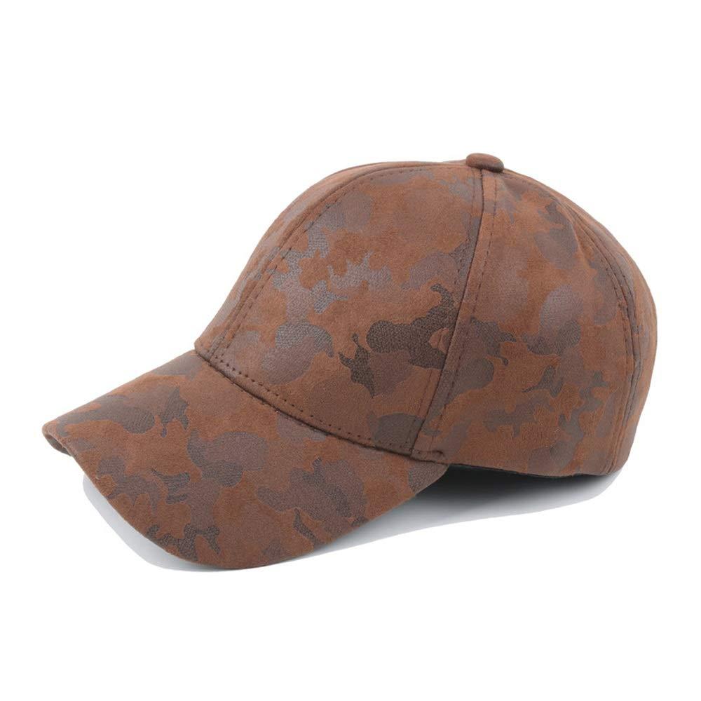Weejb Baseball Cap Summer Ladies Cotton Camouflage Leather Pu Baseball Cap Visor Sports Cap Jungle Army Hat Sun Hat
