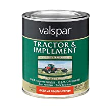 Valspar 4432-24 Kubota Orange Tractor and Implement Paint - 1 Quart