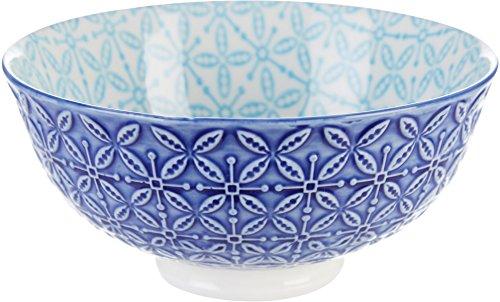 Ooh La La Aster Bowl Turquoise Navy 440402 - Bleu Soup Rim