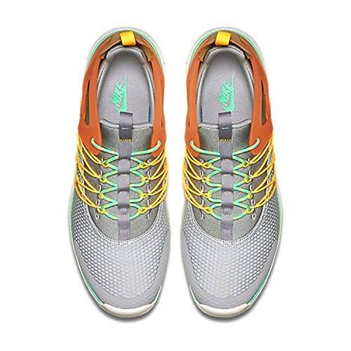 Nike Womens Free Viritous Scarpa Da Corsa Lupo Grigio / Verde Bagliore / Laser Arancione / Arancio Totale