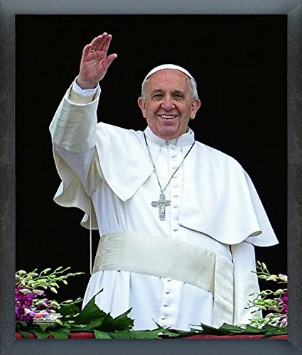 """Pope Francis I, St. Peters Basilica April 5, 2015 Photo (Size: 9"""" x 11"""") Framed"""