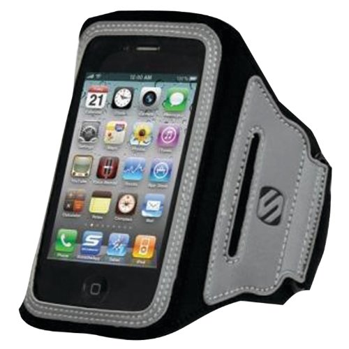 - Scosche Hfipab iPhone/iPod Touch Soundkase Neoprene Sport Armband - 1 Pack - Carrying Case - Retail Packaging - Black