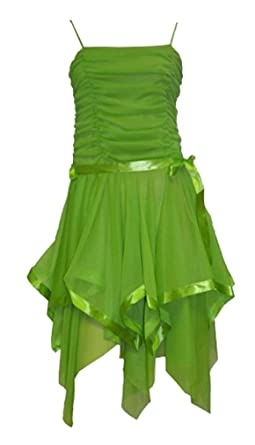 Womens New Strappy Prom Short Evening Party Dress Size 8,10 and 12 Apple Green