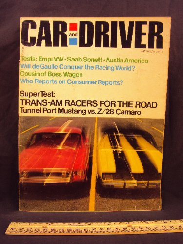 1968 68 July CAR AND DRIVER Magazine (Features: Road, used for sale  Delivered anywhere in USA
