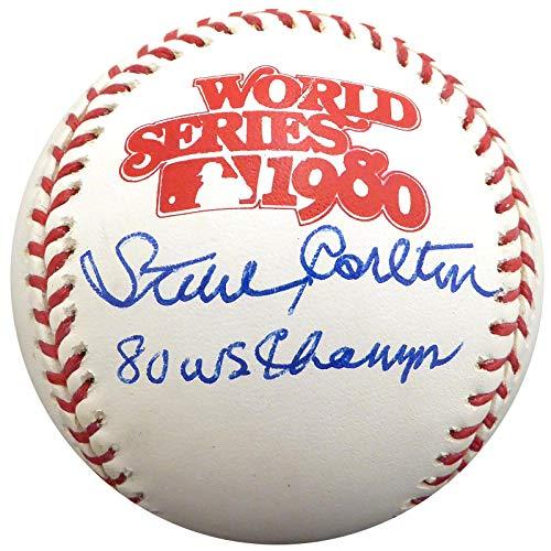 Steve Carlton Autographed Official 1980 World Series Baseball Philadelphia Phillies