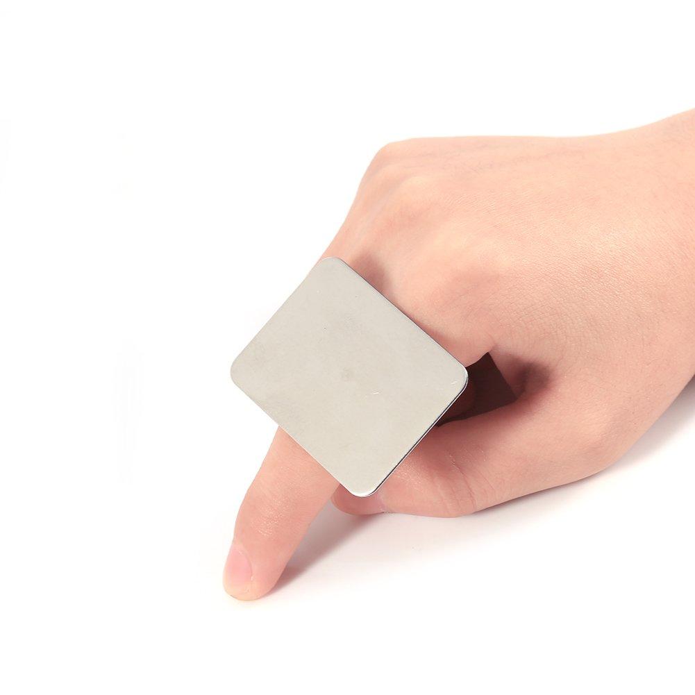 Ajustable Anillo de Acero Inoxidable Maquillaje Cosmético Nail Art Paint Mixing Palette Tool Por Filfeel