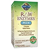 Garden of Life Vegetarian Digestive Supplement for Men - Raw Enzymes for Digestion, Bloating, Gas, and IBS, 90 Capsules