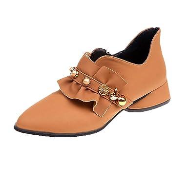 24ca3e3cc83aa Amazon.com: Sharemen Women's Shoes Elegant Pointed Shallow Mouth Low ...