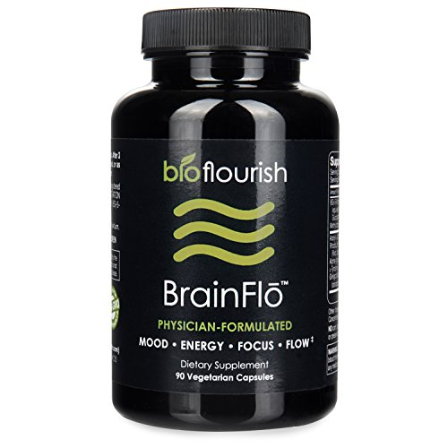 Nootropic Energy and Focus Brain Supplement: Non GMO Natural Cognitive Enhancement Pills for Mood, Memory, Mental Clarity, Concentration & Flow - Daily Brain Boosting Support Supplements (90 ct)