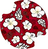 Thirstystone Hibiscus Car Cup Holder Coaster, Red/White, 2-Pack