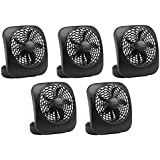 O2Cool FD05004BLK 5 Black 2 Speed Battery Operated Camping Fans - Quantity 5