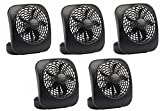 "Tools & Hardware : O2Cool FD05004BLK 5"" Black 2 Speed Battery Operated Camping Fans - Quantity 5"