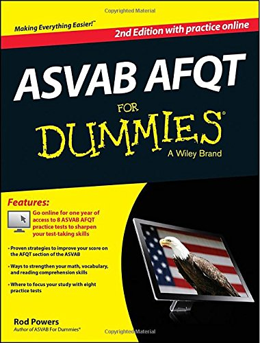 ASVAB AFQT For Dummies, with Online Practice Tests (For Dummies Series)
