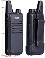 Retevis RT19 Walkie Talkies for Adults Long Range Business Small Two Way Radio Rechargeable with Earpiece Metal Clip VOX 1300mAh Battery 10 Pack