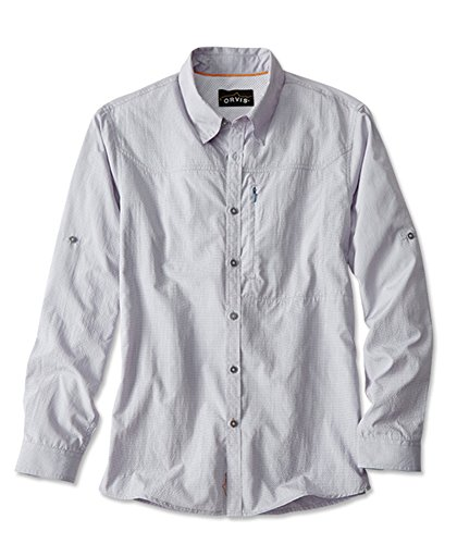 Orvis Men's Cheyenne Long-Sleeved Shirt, Blue, XX (Cheyenne Roll)