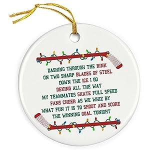 ChalkTalkSPORTS Jingle All The Way Christmas Ornament | Hockey Porcelain Ornaments 97