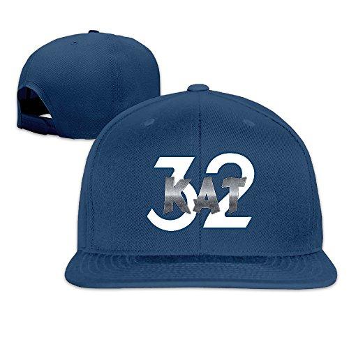 LINNA Custom Unisex Minnesota #32 KAT Basketball Player Flat Brim Baseball Hats Navy