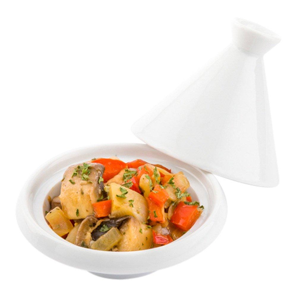 Mini Tajine Dish, Porcelain Tajines - White - 3.5 Inches - 10ct Box - Restaurantware