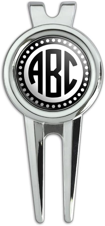 Amazon Com Graphics And More Personalized Custom Golf Divot Repair Tool And Ball Marker Monogram Circle Font Scalloped Outline Sports Outdoors