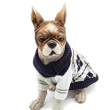 Bulary Pet Dog Sweater Ropa de Abrigo para Mascotas Ropa de Perrito Chaqueta Otoño e Invierno