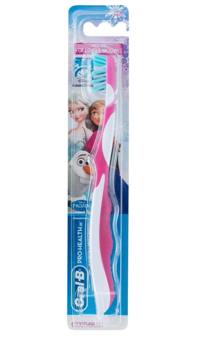 Oral B Cepillo De Dientes Para Niñas, Pro Health Junior Disney Frozen para Niños y Preadolescentes de 8 Años de Edad y Mayores, Suave (Paquete de 6) ...