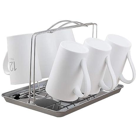 XFPINK-Soportes para tazas Portavasos Vaso De Cerveza De Acero Inoxidable Vaso De Almacenamiento Estante